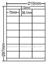 Multi purpose sticker label printing machine self adhesive a4 sheets
