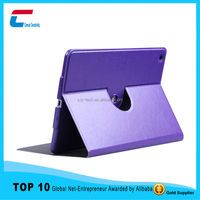 China factory gold supplier high quality 360 degree rotatable PU leather case for iPad 234 air/ air 2 with stand function