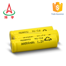 aa 500mah 1.2v ni-cd rechargeable battery