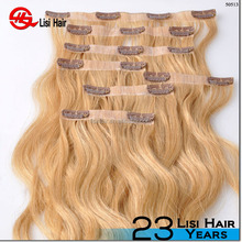 New Product Double Drawn Virgin Remy Hair Clip magnetic hair clip