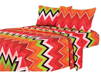 The Best selling, Fashion and bright color printed, 4PC bed sheet set,super soft, disperse print