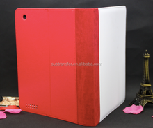 Factory direct sale Sublimation flip leather wallet stand cover case for Ipad2/3/4