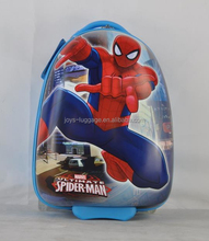 2015 newest abs/pc 16 inch egg shape 2 wheels boys suitcase for kids