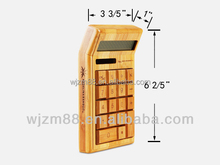 2015 hot selling solar bamboo calculator