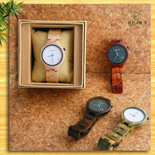Wholsale New Products Watches For Lady Japanese 2035 Movement Wooden Wirst Watch China 2016