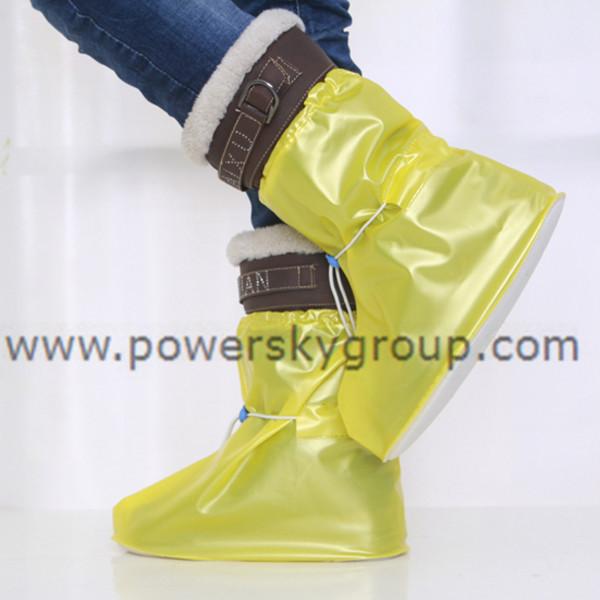 PY602 children waterproof flat heel adjustable shoe covers.JPG