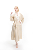 Usa style microfiber double layers long bathrobe / Ladies winter sleepwear