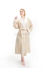 Usa style microfiber double layers long bathrobe / Ladies winter sleepwear