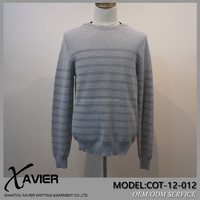 Hot Sale latest sweater designs Pure Cotton Round Neck Men wool Sweater Pullover 2015 for Spring