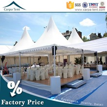 Aluminum frame 4mx4m pagoda tent with lower price sale to Indian
