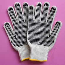 safety working fitted dotted cotton glove