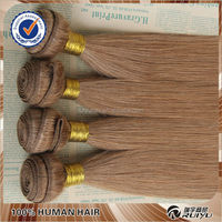 new arrival 20inch straight 4pcs/lot hair weave color 33 colored brazilian hair
