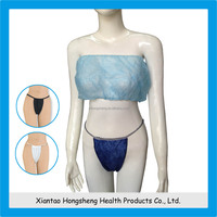 disposable underwear manufacturer, nonwoven disposable spa bra,disposable pp bra
