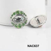 China alibaba new women rhinestone snap charm accessory free sample NAC640