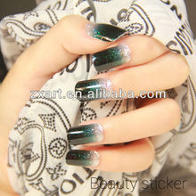 2015 wholesale self adhesive gel nail glitter nail sticker