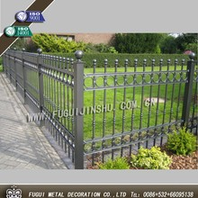 New type decorative iron garden palisade fencing design