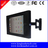 Wall mount iPad kiosk security enclosure and stand with 360 Degree rotation