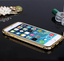 luxury Bumper case,Crystal Diamond Bling cover For iPhone 6 ,custom case for iphone6