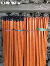 Plastic coated wooden broom handle with different plastic pattern and different cap