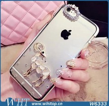 Diamond Slim Shining Electroplating Cover Rhinestone Crystal Case for iPhone 6