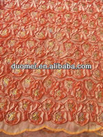 p2391 Unusual high quality fabric african slub fabric with sequins in wholesale