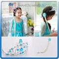 Mini Qute muy vendido 3 en 1 Juguetes vestido peluca decorativa cosplay dibujos americanos Frozen Princesa Anna y Elsa