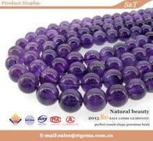 gemstone supplier 6/8/10/12mm wholesale round bead loose natural amethyst