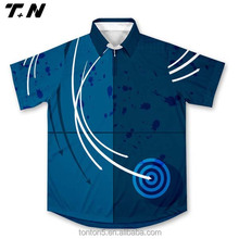 Short or long sleeve fishing shirts fishing shirt blue color