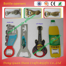 promotional zinc alloy soft enamel metal bottle openers