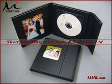 PU Leather Wedding CD DVD Disc Case Holder Box Cover,2Picture 1Disc
