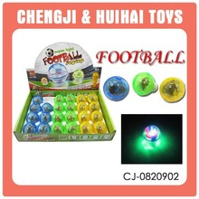 flashing mini football sport toy plastic spinning top