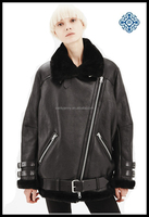 women's pu jacket with bambswool lining