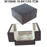 High Glossy Lacquer Nobel Design Two Doors Wood Bangle Box For Jewelry Display W1084B