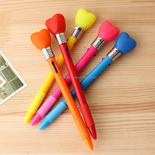 Cute 2 color pen with light