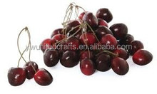 Plastic Mini Wedding Decorative Fruit Artificial Cherries