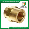 factory price hot sale 1/4' forged original brass color brass fitting coupling with npt male or female thread