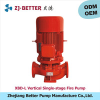 0.5hp XBD-L vertical fire pump ul fm /high pressure water pump for fire engine/fire fighting pumps