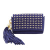 CL10-120 Fahion ladies PU beaded clutch bag with macrame