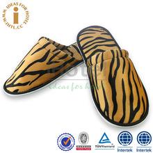 Leopard Fashion Design Hotel Brand Name Washable Slipper Sandals