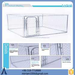 2015 Various useful customizable high quality wrought iron galvanized hot sale large strong outdoor dog cage/kennel