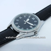 2012 best sell 3atm water resistant japan movt mens leather quartz watch