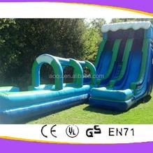 China cheap new inflatable slip n slide/inflatable water slide with pool /The Rainbow Slide N Splash Waterslide Inflatable
