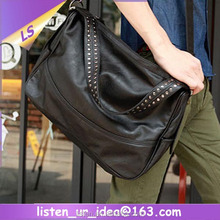 Best Selling cool style traveling leather messenger bag men