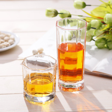 Freezer Drinking Highball Tall Drinking Tumblers Glasses, Octagon Glass Cup drinking glass cup factory