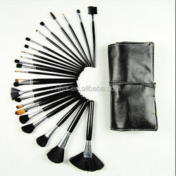 24 pcs Cosmetic Makeup Brush Set with Leather Case