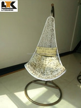 Indoor Outdoor Egg Shaped Balcony Rattan Swing Chair