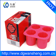 4-Cup Shape Silicone Fresher Shooter Ice Cube Shot Glass Freeze Forming tray Glass Maker Mold Mould