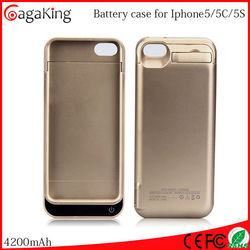 Mobile phone case for iphone 5c external battery charger 4200mah powerbank
