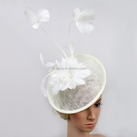 New Design Women Feather Flower Sinamay Base Fascinator Kentucky Derby/Race