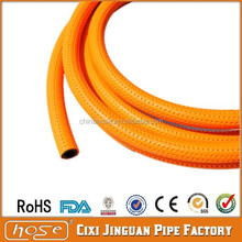 Yellow Flexible PVC Gas Hose for Oven Parts with Copper Connector